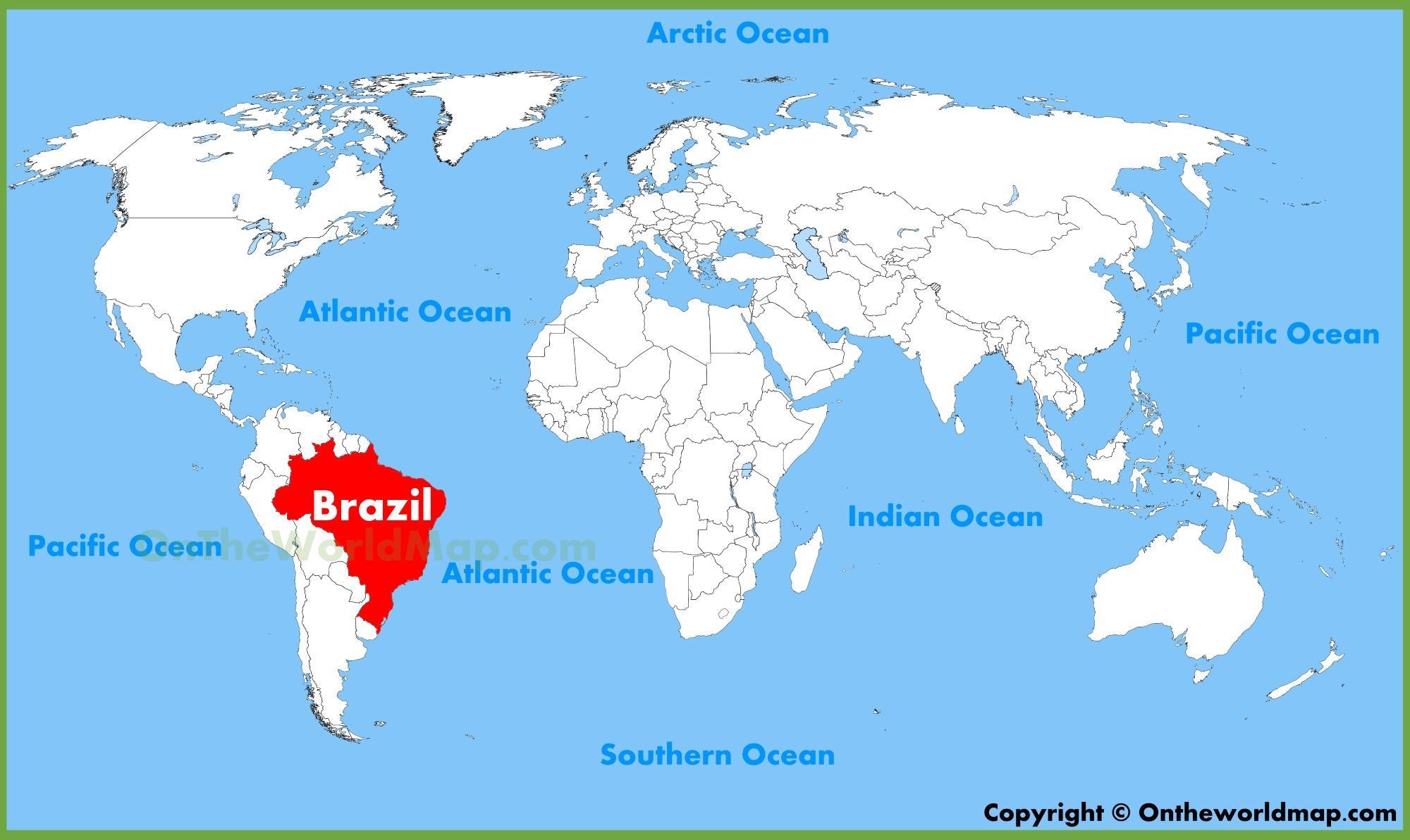 Carte du monde Brésil   Carte du monde Brésil (Amérique du Sud