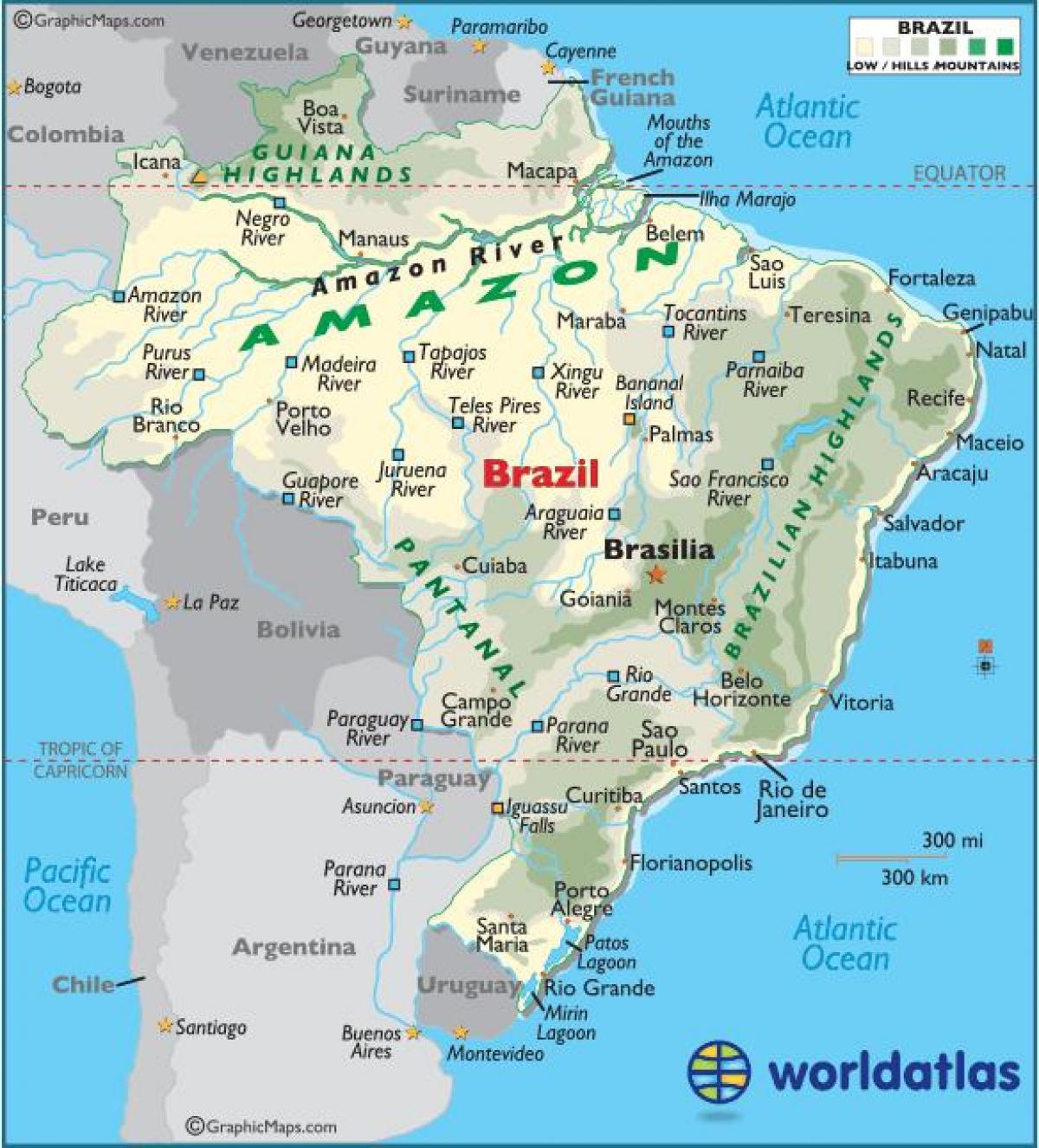 Carte Cote Bresil.Le Bresil Cote Map Carte Du Bresil De La Cote Amerique