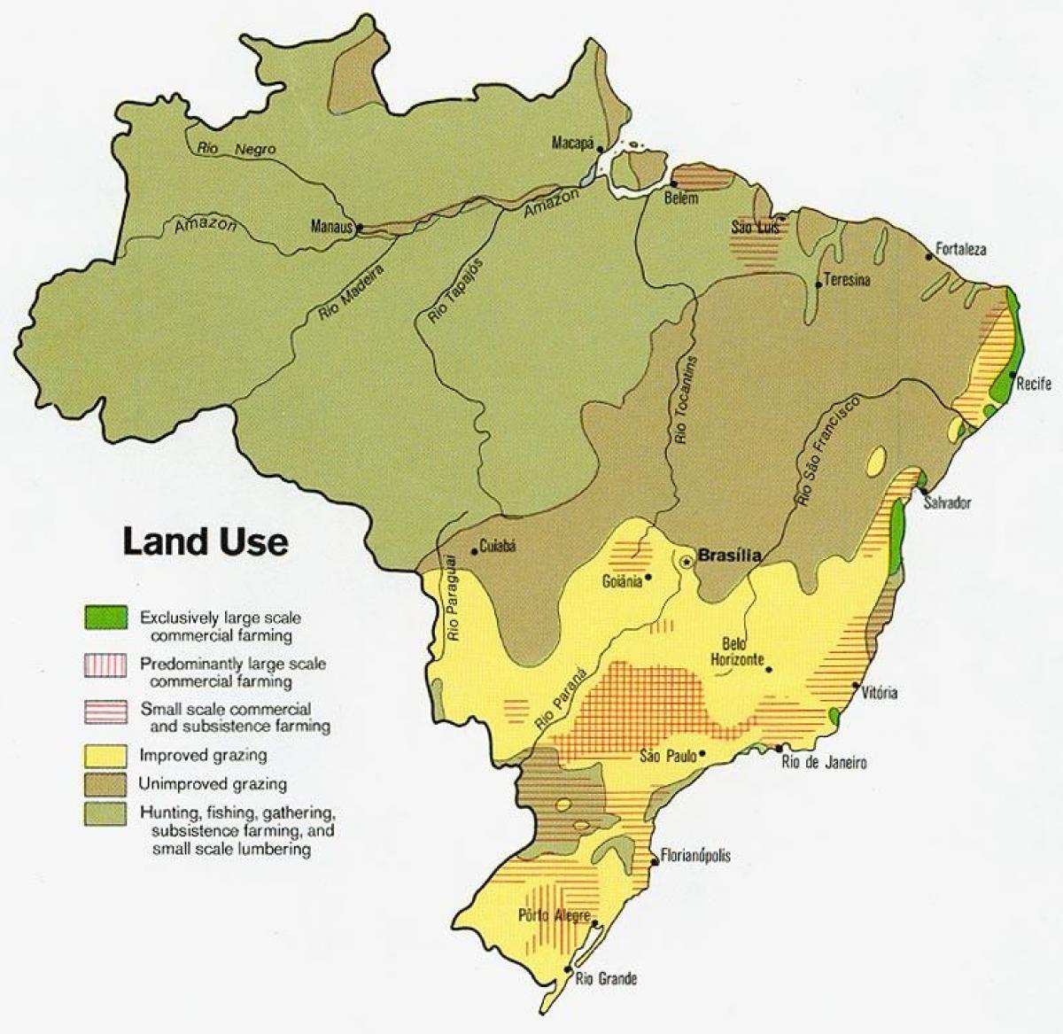 Carte Du Bresil Agriculture.Le Bresil L Agriculture Map Carte Du Bresil De L