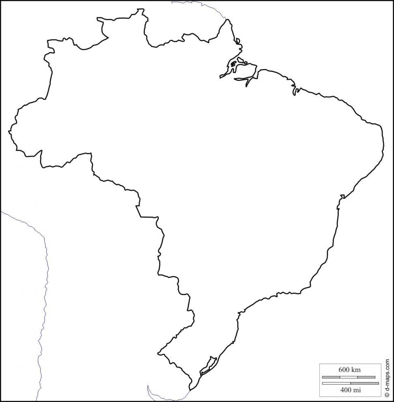 Carte Muette Bresil.Carte Amerique Sud Vierge